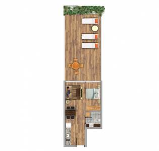 1 dormitorio en suite en Península!