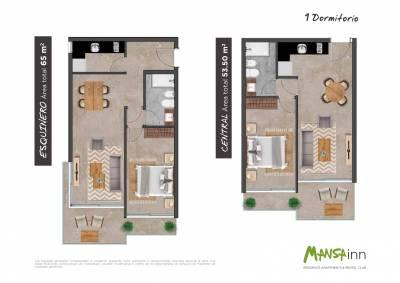 1y 2 dormitorios -Proyecto en pozo en Punta del Este - Mansa Inn
