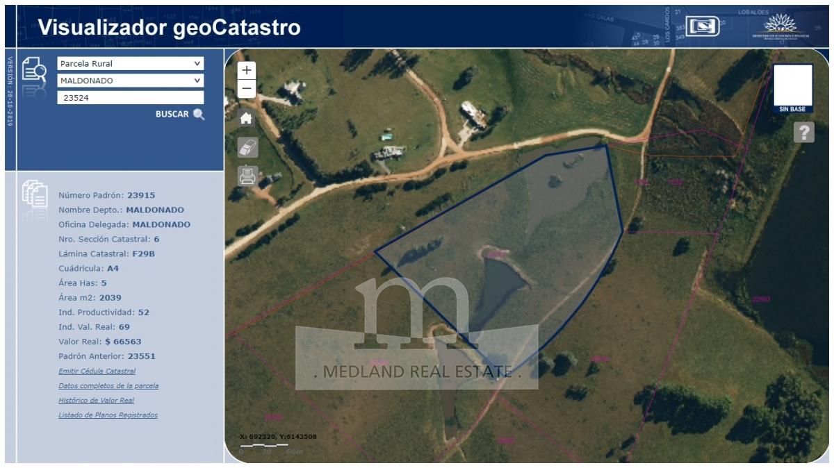 Campo Ref.215 - Venta de Excelente Campo - Chacra Maritima - La Barra - Punta del Este