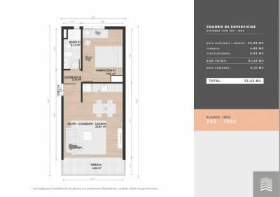 Apartamento 1 dormitorio para renta o vivir todo el año Bajos gastos comunes