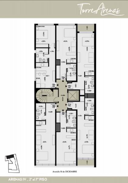 Plano - piso 2 al 7