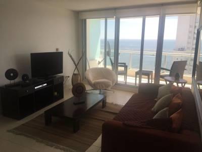 Departamento 2 dormitorios , 2 baños en suite , toilette , living comedor , cocina , balcon con vista al mar  todos los  servicios , mucama , servicio de playa , sauna humedo y seco , gimnasio , parrilleros en piso 24 , seguridad 24 horas